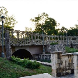 Stone footbridge (c. 1900 and later)