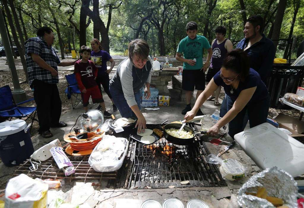 Camping at Brackenridge Park is a cherished Easter tradition in San Antonio